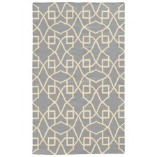 Matrix Blue Geometric Rug