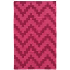 Matrix Pink Geometric Rug