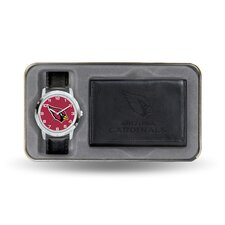 NFL Men's Watch and Wallet Set