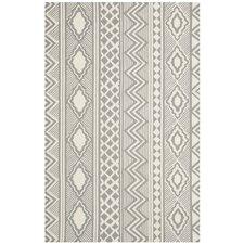 Grey / Ivory Geometric Rug