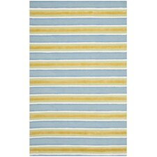 <strong>Isaac Mizrahi</strong> Yellow / Blue Striped Rug