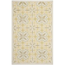 Yellow / Beige Floral Rug