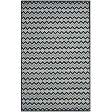 Grey / Black Geometric Rug
