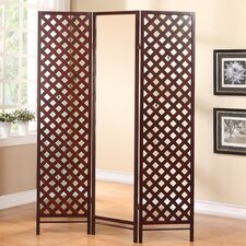 "70"" x 51.5"" Paris Boutique Mirrored Dressing 3 Panel Room Divider"