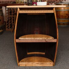 1/2 Barrel Wall Cabinet with Top