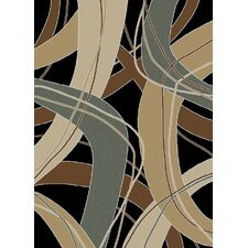 <strong>Ottomanson</strong> Manhattan Black Abstract Rug