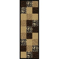 Ottohome Animal Patchwork Rug