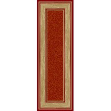 Ottohome Dark Red Bordered Rug