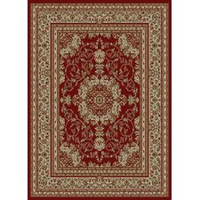 <strong>Ottomanson</strong> Royal Dark Red Medallion Rug