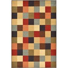 Ottohome Checkered Area Rug
