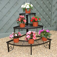 Three Tier Corner Stand in Black