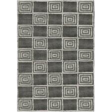 Alistair Tiles Platinum Black/Gray Area Rug