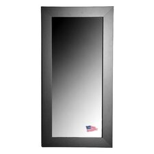 Jovie Jane Black Satin Wide Tall Mirror