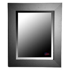 Jovie Jane Black Satin Wide Wall Mirror