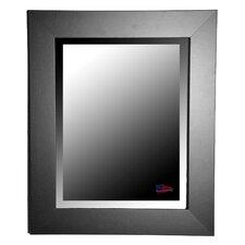 Jovie Jane Black Satin Wide Wall Mirror