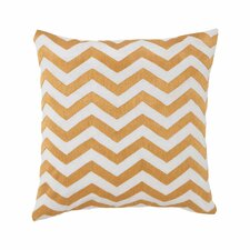 <strong>Jill Rosenwald Home</strong> Plimpton Flame Chevron Embroidery Decorative Pillow