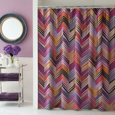 <strong>Collier Campbell</strong> Ziggurat Cotton Shower Curtain