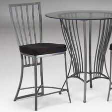 "<strong>Bernards</strong> Galaxy 24"" Bar Stool with Cushion (Set of 2)"