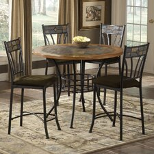 Rock Wood / Stone Counter Height Pub Table Set