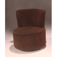 Velvet Swivel Fabric Slipper Chair