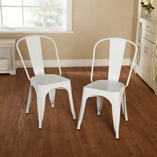 Avalon Stackable Metal Chair in Black (Set of 2)