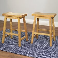"24"" Belfast Saddle Bar Stool (Set of 2)"