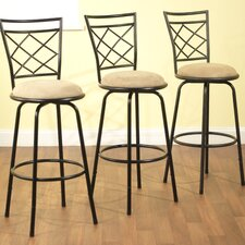 Avery Adjustable Height Metal Bar Stool (Set of 3)