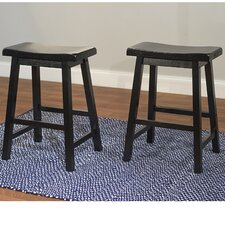 "<strong>TMS</strong> 24"" Belfast Saddle Bar Stool (Set of 2)"
