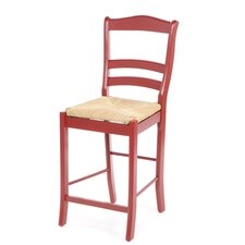 "Paloma 24"" Bar Stool in Red"