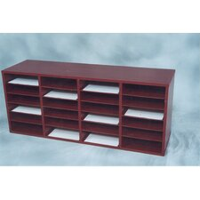 24 Compartment Laminate Literature Organizer