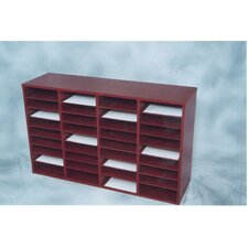 36 Compartment Laminate Literature Organizer
