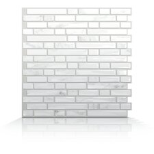 Mosaik Self Adhesive Wall Tile in Bellagio Marmo (Set of 6)