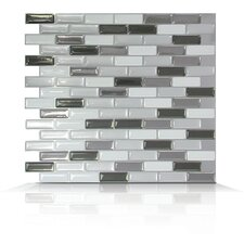 Mosaik Self Adhesive Wall Tile in Metallic (Set of 6)