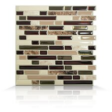 Mosaik Self Adhesive Wall Tile in Bellagio Keystone (Set of 6)
