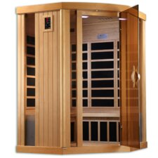 Puretech Low EMF 3 Person Corner IR Carbon FAR Infrared Sauna