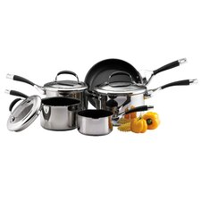 Elite 8 Piece Stainless Steel Cookware Set
