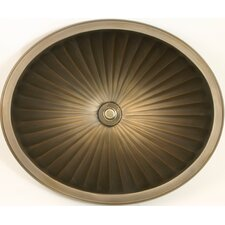 Bronze Oval Fluted Bathroom Sink