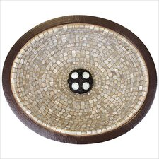Small Oval Mosaic Bathroom Sink
