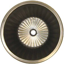 Bronze Round Flat Bottom Fluted Bathroom Sink