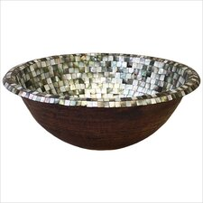 Rolled Rim Mosaic Bathroom Sink