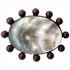"Beaded Oval Lip Shell 1.5"" Pop-Up Bathroom Sink Drain"