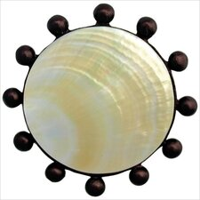 "Beaded Mother of Pearl 1.5"" Pop-Up Bathroom Sink Drain"