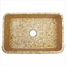 "30.75"" x 20"" Tumbled Onyx Farmhouse Kitchen Sink"