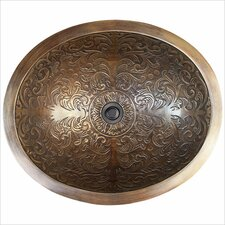 Oval Brocade Bathroom Sink