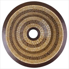 Large Round Flat Bottom Mosaic Bathroom Sink