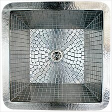 "20"" x 20"" Stainless Steel Mosaic Large Square Bar Sink"