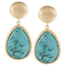 Large Disc Dangle Drop Earrings