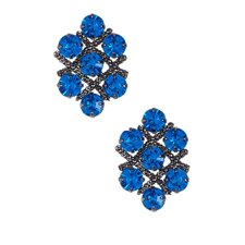 Cluster Austrian Crystal Stud Earrings
