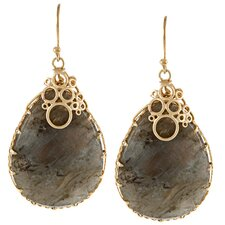 Teardrop Encased Drop Earrings