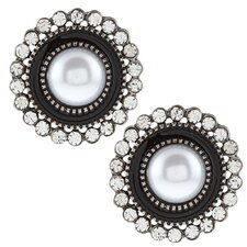 Classic Faux Pearl Stud Earrings